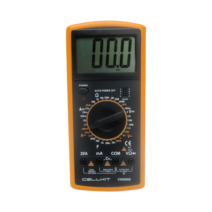 MULTIMETER DIGITAL CELLKIT 9205D (CK 9205D)